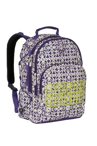 Lässig Wickelrucksack Casual Backpack, grid dark purple