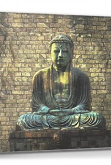 1art1® Budismo – Buda En Meditación Cuadro, Lienzo Montado sobre Bastidor (80 x 60cm)