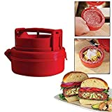 PANNIUZHE Stuffed Mini Homemade Hamburger Burger Press BBQ Beef Meat Mould Plastic Hamburger meat Maker Pizza Stuffed Patty Maker Kitchen Tool Red by PANNIUZHE