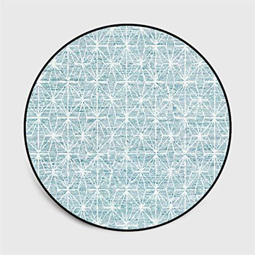 IMON LL TappetiTappeti Rotondi semplici nordici, Astratto Fiore Geometrico Blu Arancio Tappeto di...