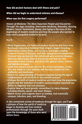 Medicine: History of Medicine: The Most Important People and Discoveries  Through The Ages Including: Alternative Medicine, Remedies, Nursing, Modern