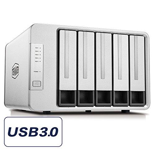 TerraMaster D5-300C USB3.0 (5Gbps) Tipo C Supporto per Raid 5-bay Raid Supporto Raid 0/1/Singolo...