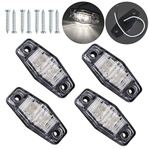 Justech 4 Pezzi Luci di Posizione Luci Laterali Impermeabile LED Luce Indicatore Luci di Posizione...