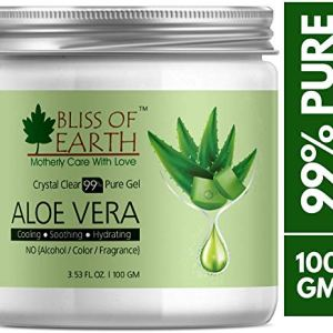 Bliss of earthTM 99% Pure Crystal Clear Aloe Vera Gel | 100GM | Great For Face, Body & Hair | Effective Cooling, Soothing & Hydrating | Paraben Free |... 7  Bliss of earthTM 99% Pure Crystal Clear Aloe Vera Gel | 100GM | Great For Face, Body & Hair | Effective Cooling, Soothing & Hydrating | Paraben Free |… 51pCrvo9LpL
