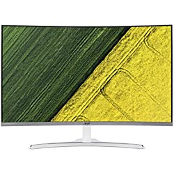 Acer ED322Q 31.5-inch Curved Full HD LED Backlit Computer Monitor with Stereo Speakers (White)