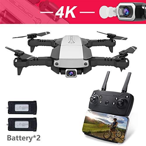 MBEN Drone e Fotocamera, videocamera WiFi FPV 4K HD, Controllo App in modalità Headless Pieghevole, Ritorno a Un Tasto, principiante di Drone Aereo a Quattro Assi,Black