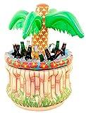 Maße: 40 x 57 x 40 cm, aufblasbare Palme, mit Getränkefuß. Super als Tischdeko für die Party. Im Fuß lassen sich Getränke kühlen.