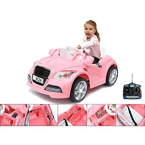 #Elektrisches Elektrofahrzeug 12V mit elterlicher Fernbedienung – elektrischer rosa BMW für Kinder#