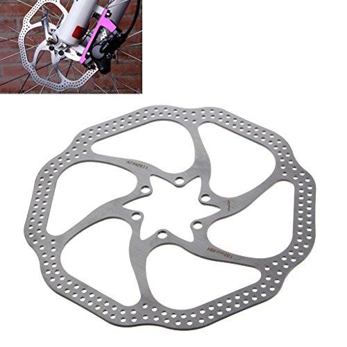 Rotore per freno a disco di bicicletta mountain bike, in acciaio inossidabile, con 6 bulloni, 180 mm