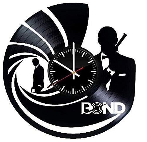 AIYOUBU Orologio Bond in Vinile - 007 Decorazioni Fatte a Mano con Decorazioni da Parete in Camera -...