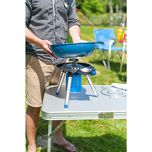 The Campingaz Grill 200 is just so good to ignore and, therefore, comes in second. This compact Party Grill lives up to its name, allowing you to pan grill, griddle, and pan-fry your favourite meals.
