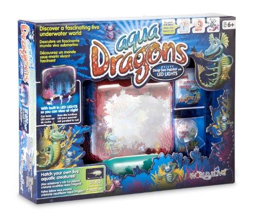 Aqua Dragons Deluxe - Pecera para Dragones de Agua Mundo Submarino Juguete Educativo World Alive W4003