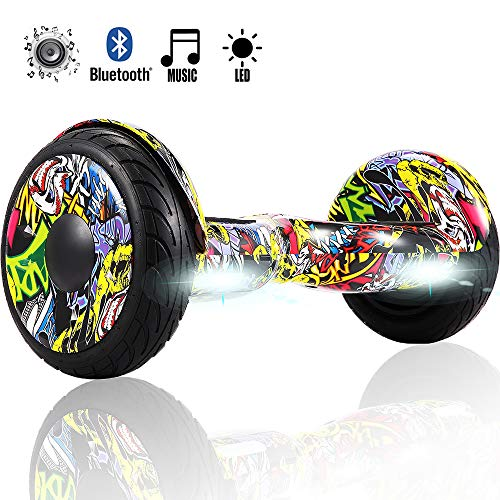 Magic Vida Skateboard elettrici Self Balance Scooter Bluetooth con LED 8 Pollici Motore 700W per...