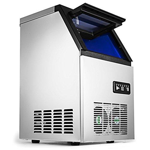 Chrisun Machine à Glaçons Automatique 220V 50Hz Machine à Glaçon Professionnel En Acier Inoxydable Machine à Glace