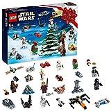 LEGO- Calendrier de l'Avent Star Wars 2019 Compte à Rebours de Noël Inclus 24 minifigurines à Assembler, 6 Ans et Plus, 280 Pièces à Construire, 75245