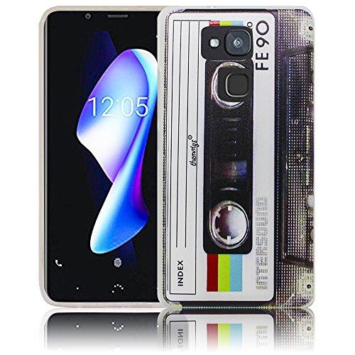 Bq Aquaris V Plus Passend Kassette Retro Handy-Hülle Silikon - staubdicht, stoßfest & leicht - Smartphone-Case