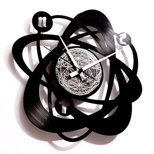 Disc'O'Clock Orologio in Vinile Atomium