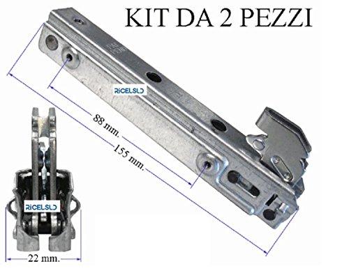 8030103003020 *** NARDI 2 CERNIERE FORNO PORTA leggera 15,5 CM MOLLE COMPACT MP CORTE KCF 3696