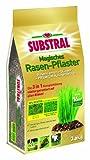 Substral Magisches Rasen-Pflaster - Rasenreparatur - Mischung aus Rasensamen, Premium Keimsubstrat und Dünger - 3,6 kg für bis zu 16 m²