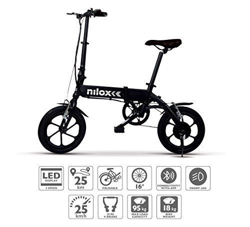 Nilox Doc X2 Plus, Bicicletta Elettrica Pieghevole, Motore 36v Unisex - Adulto, Nero, Taglia Unica
