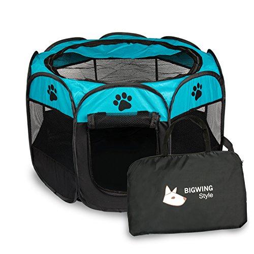 BIGWING Style Recinzione per Cuccioli Recinto Grande per Animali da Usare all'Interno e all'Esterno-...