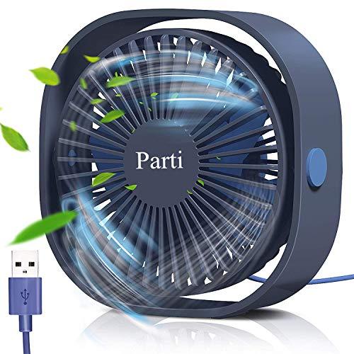 Ventilatore USB, Mini Ventilatore Portatile, Mini Ventilatore da Tavolo, Rotazione silenziosa...