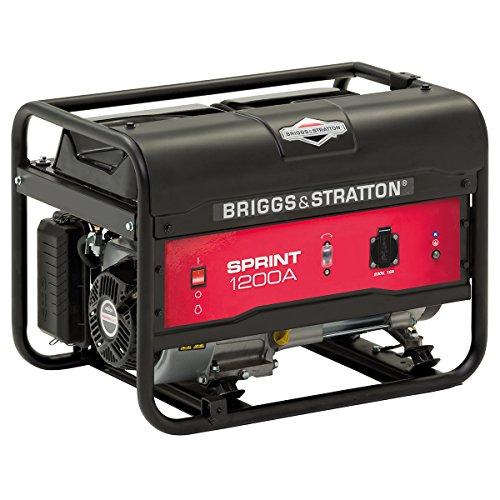 Briggs and Stratton SPRINT 1200A Generador portátil de gasolina - Potencia en marcha de 900/Potencia inicial de 1125, 900 W, Negro