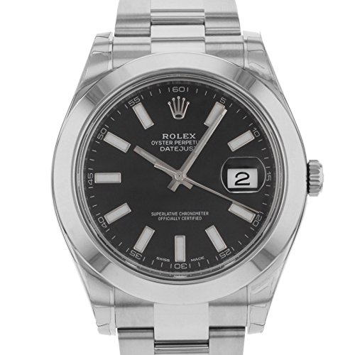 ROLEX DATEJUST II MEN'S STAINLESS STEEL CASE AUTOMATIC DATE UHR 116300BKSO - 2