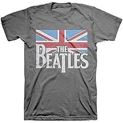 The Beatles Distressed British Flag Camiseta