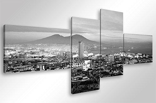 Degona Quadro Moderno Napoli GOLFO B/N - cm 160x70 Stampa su Tela Canvas Arredamento Arte Arredo