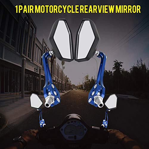 KIMISS Universal One Pair Motorrad Motorrad Roller Rearview Lenker Spiegel Rückansicht Seitenspiegel 2