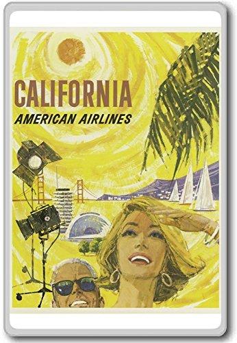 California, USA - Vintage Travel Fridge Magnet - Calamita da frigo