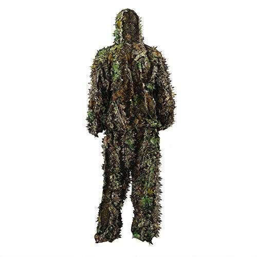 Foglie 3D Camouflage Abbigliamento Outdoor Jungle Woodland Caccia Camo Ghillie Completo