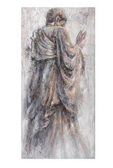 Cuadro de Buda clásico Gris de Lienzo para salón de 70 x 140 cm Fantasy – LOLAhome