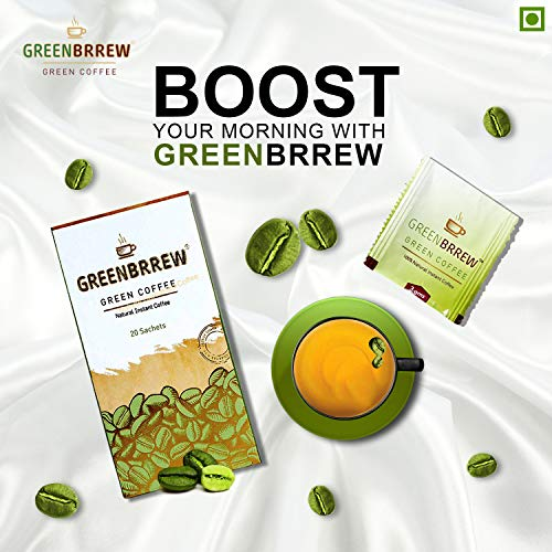 Greenbrrew Natural Instant Green Coffee for Weight Management (Pack of 3, 20 Sachets) - 60g Each 5