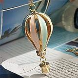 Yesiidor montgolfière Forme Collier Femmes Filles Tendance Charming Creative clavicule chaîne Pull Collier Bijoux Accessoires