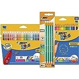 BIC Evolution Original with Eraser Graphite Pencils, BIC Kids Kid Couleur Felt Pens, BIC Kids Evolution ECOlutions Colouring Pencils - Lot of 1