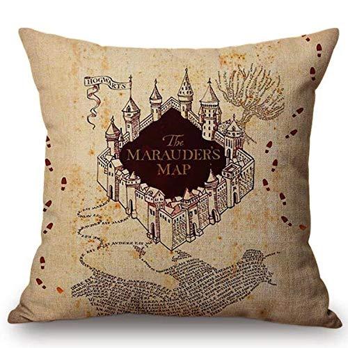 STARKWALL Cuscini Decorativi di Tiro Harry Potter Hogwarts Case Logo Modello Cuscino Copertina per...