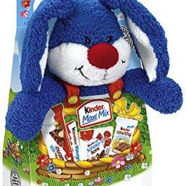 Kinder Pasqua Peluche 23cm Coniglio con Kinder Maxi, Bueno eccetera 133g