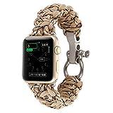ouneed® per Apple Watch 42mm, nylon tessuto braccialetto di remplacment (e)