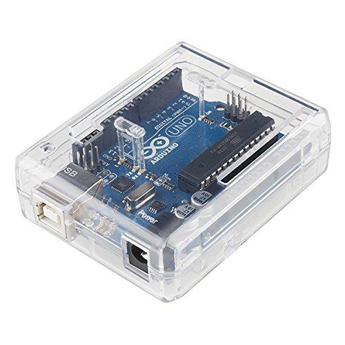 51q7jD8XAyL - SB Components Uno R3 Case Clear - Caja para Arduino Uno R3, Transparente