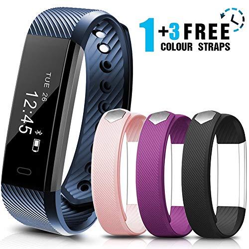 AIMIUVEI Fitness Tracker Smartwatch Orologio Fitness con 3 Cinturini Colorati, Monitoraggio del...