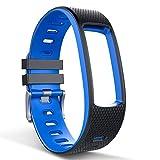 endubro Cinturino per Fitness Tracker i3HR & i7HR | i6HR | i6HR C & Molti Altri Modelli Realizzato in TPU Skin-Friendly con Chiusura antiallergica (Nero/Blu)