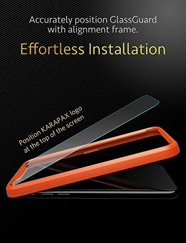 cheap for discount 88f92 9a21c iPhone X / 10 Screen Protector Anker KARAPAX GlassGuard Screen Protector  for iPhone X / 10 (2017) with DoubleDefence Technology and Tempered Glass [  ...