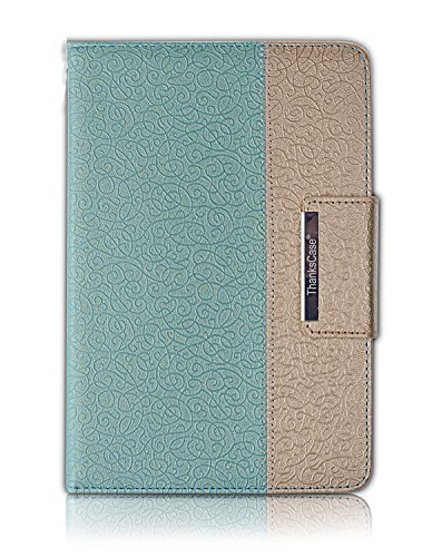 iPad Pro 9.7 Case,Thankscase Rotating Case Cover for iPad Pro 9.7 with Wallet Pocket with Hand Strap with Auto Sleep / Wake for iPad Pro 9.7 (Gold Jade)