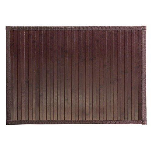 InterDesign Formbu Bamboo Tappetino Bagno Antiscivolo in Bambù, Marrone, 61 x 43 cm