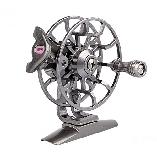 Rawdah-finshing Mulinello per la Pesca,1/2 3/4/5/6/7/8 WT 55mm Grande Pergolato Alluminio Volare Pesca Bobina-Large Arbor Aluminum DF55 Fly Fishing Reel (Diametro Bobina: 55 mm, Argento)