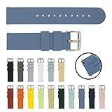 Archer Watch Straps   Cinturini per Orologi in Silicone Morbido a Sgancio Rapido di Ricambio Cinghie (Blu, 22mm)