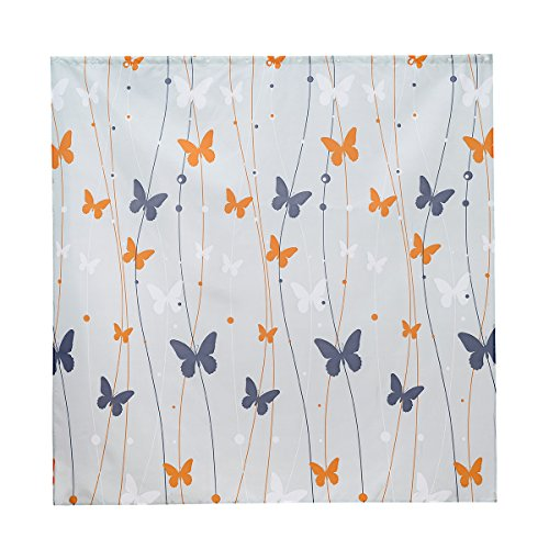 Sancarlos Cortina de baño, Naranja, 180x180 cm