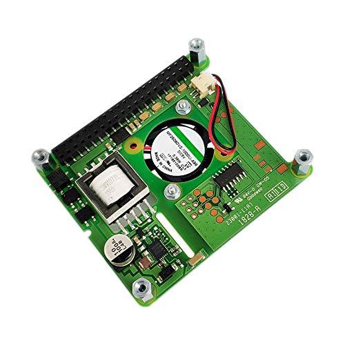 X.X.Y Scheda aggiuntiva Poe Hat con Ventola di Controllo Scheda di espansione Poe Hat for Raspberry Pi 4 Modello B / 3B + Plus / 3B Kit Fai da Te per Stampante 3D